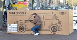 Publicité pour Mini Cooper Hollande