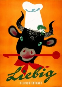 affiche de Stoecklin Niklaus pour la marque de soupe Liebig