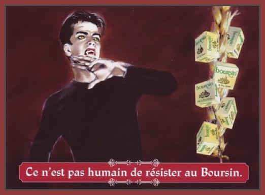 Affiche pour le fromage Boursin