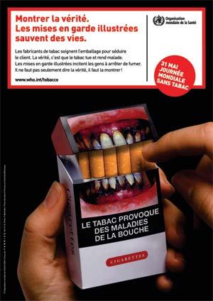 affiche de l'organisation mondiale de la santé