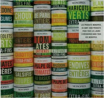 La campagne d 39 affichage monoprix la veilleuse graphique for Customiser des boites de conserves