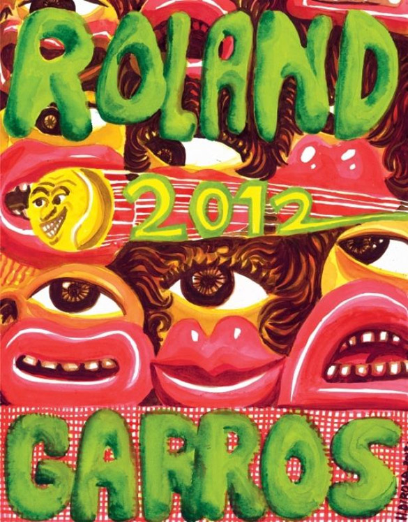 Affiche 2012 de Roland Garros