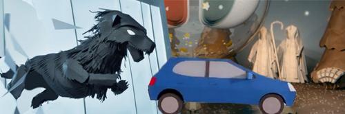 Le papier à la mode dans le cinéma d'animation