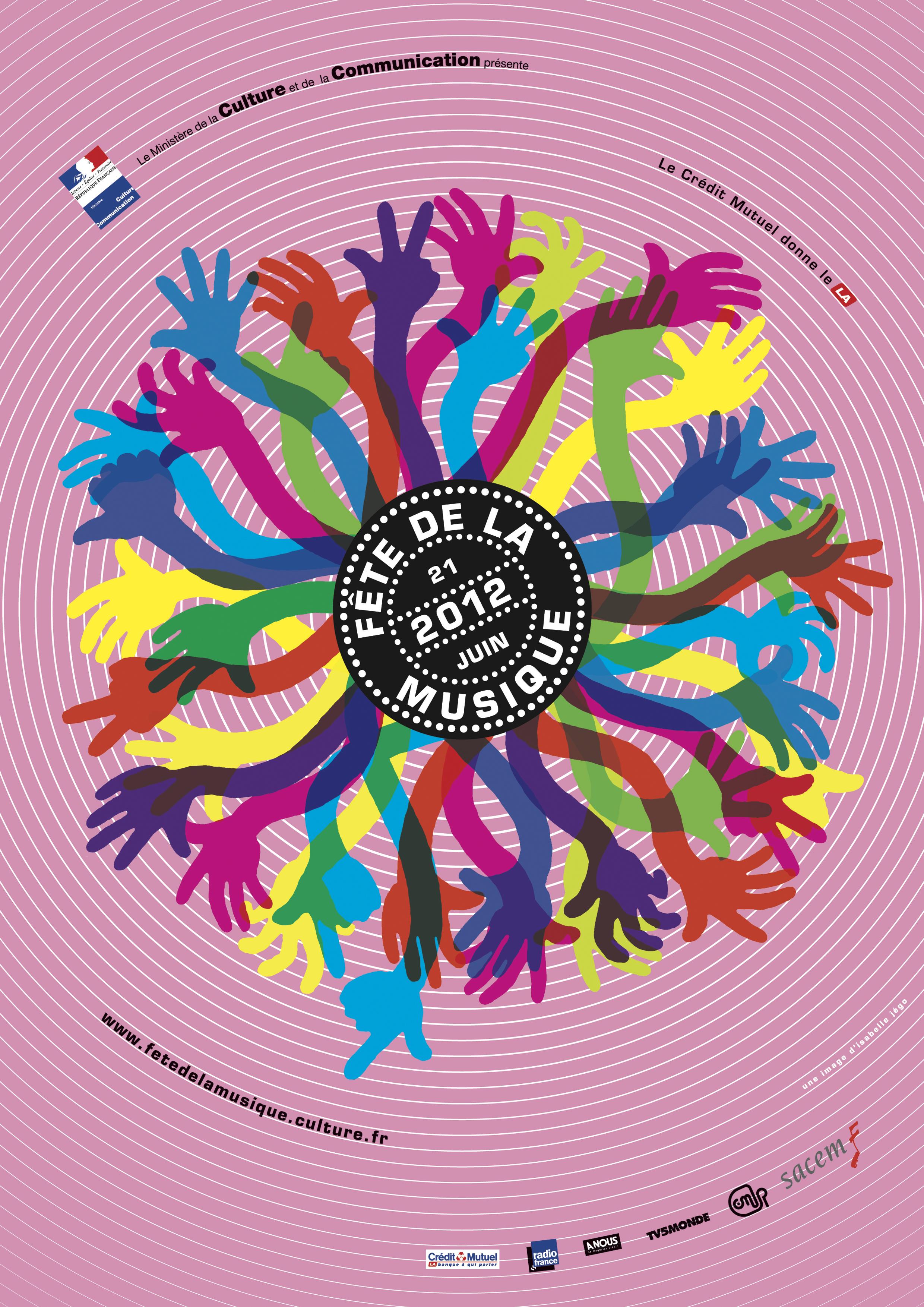 Affiche de la fête de la musique 2012 © Isabelle Jégo