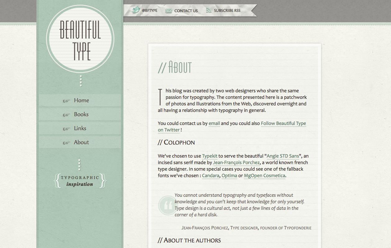 Beautiful Type website
