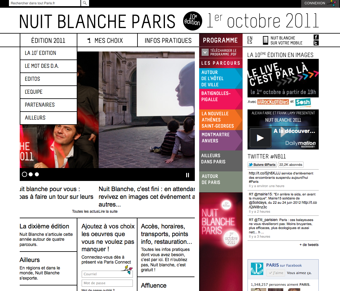 Site Nuit Blanche Paris 2011