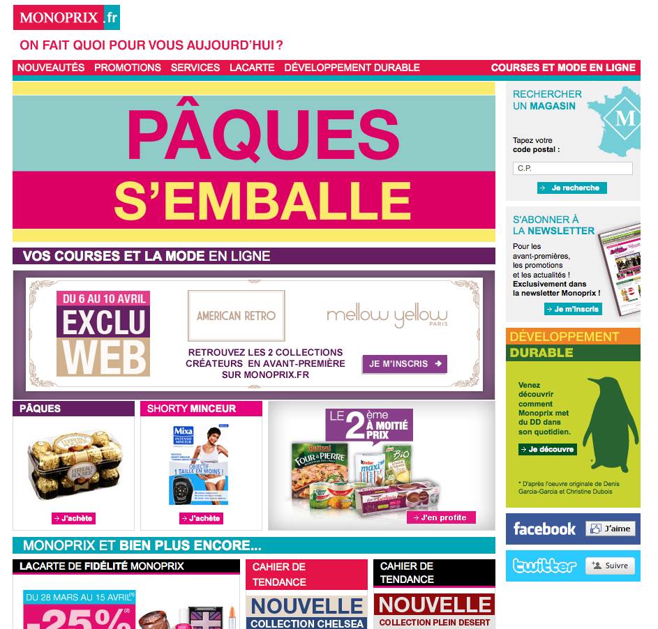 Site web Monoprix