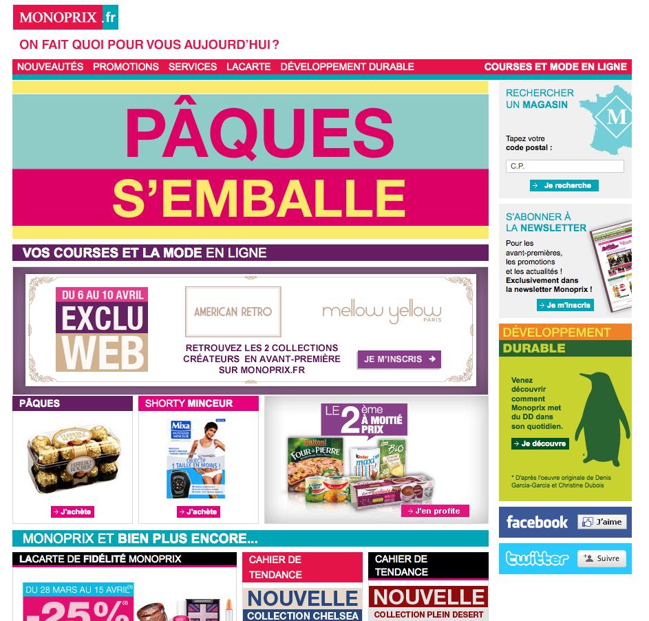 Site web Monoprix