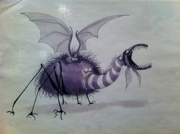 """Dessin de monstres pour """"Taram et le Chaudron magique"""" par Tim Burton pour Disney"""