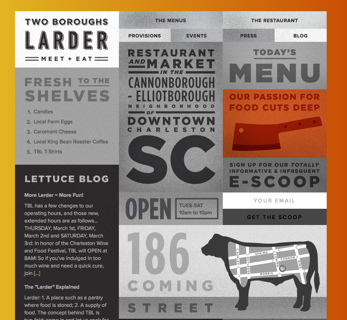 site des Two boroughs larder