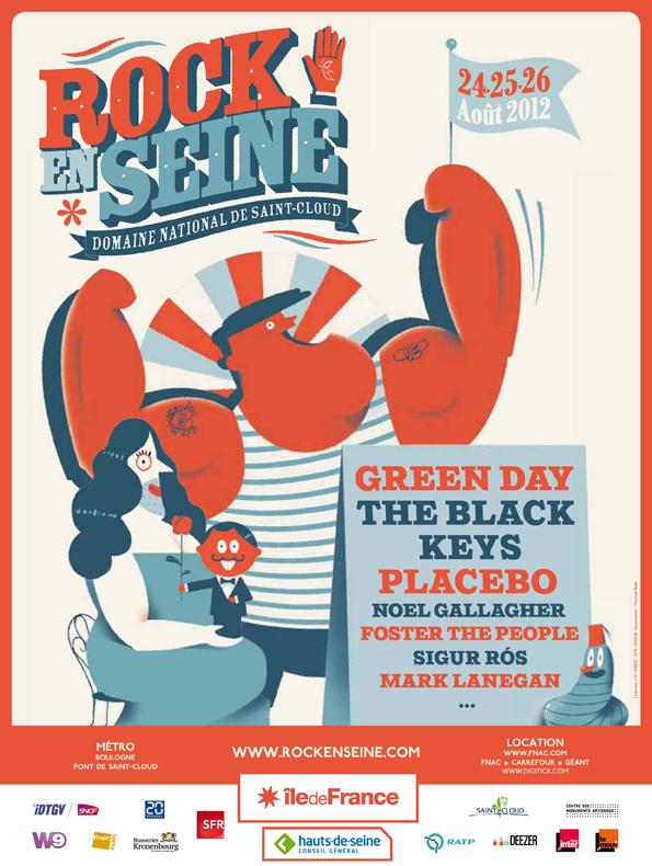 Affiche de l'édition 2012 du festival Rock En Seine