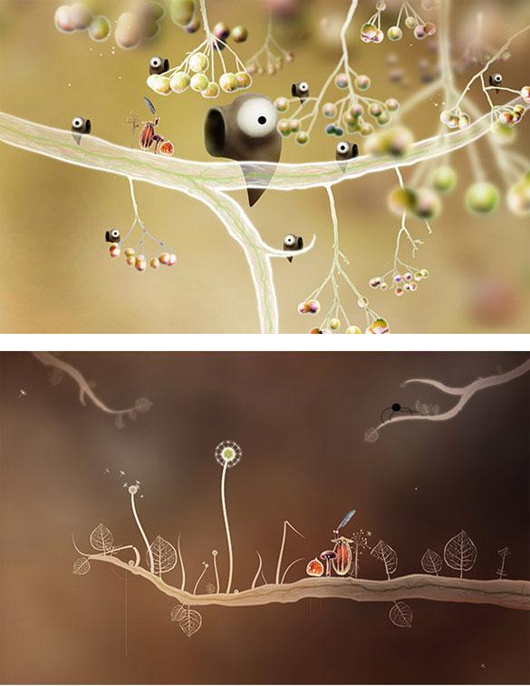 aperçu de l'interface du jeu Botanicula