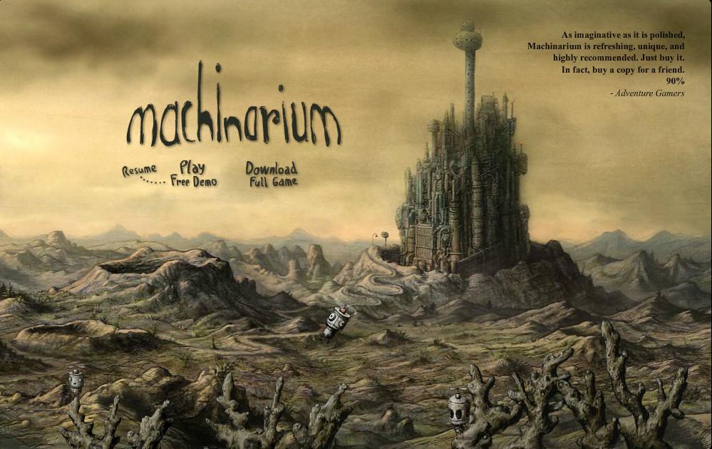 aperçu de l'interface du jeu machinarium