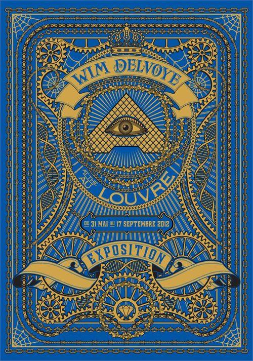 """Affiche de l'exposition de Wim Delvoye """"Vers l'infini et au-delà"""" au Louvre"""