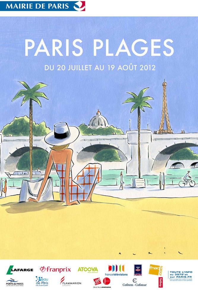 Affiche Paris Plages 2012 par François Avril