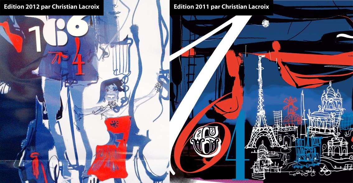 Visuels 2011 et 2012 de Christian Lacroix pour 1664