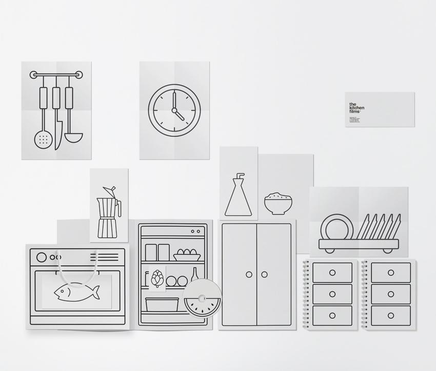 """Identité visuelle pour l'agence audiovisuelle """"The Kitchen Film"""""""
