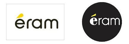 A gauche l'ancien logo et à droite le nouveau logo d'Eram