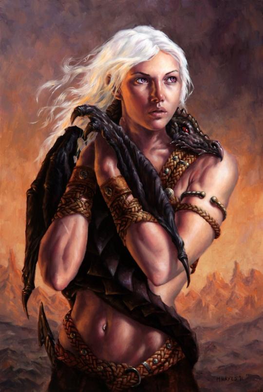 Daenerys Targaryen - la mère des dragons - par Michael Chayes