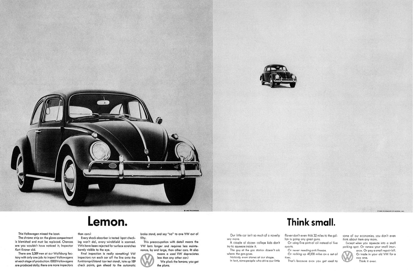 """Think small"" pour Volkswagen"