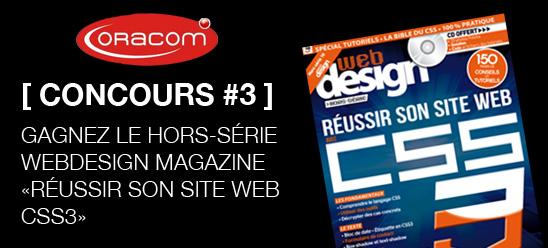 [ Concours ] Gagnez le hors série Webdesign magazine dédié au CSS3