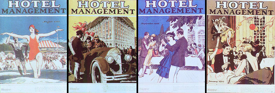 "Couvertures du magazine ""Hotel Management"" par Hopper - 1924/1925"