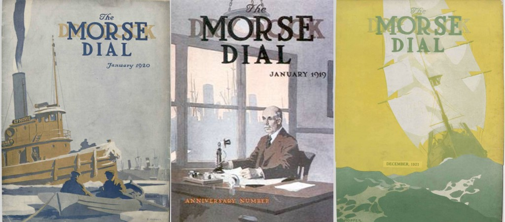 "Couvertures pour ""The Morse dial"" par Hopper - 1919/20/21"