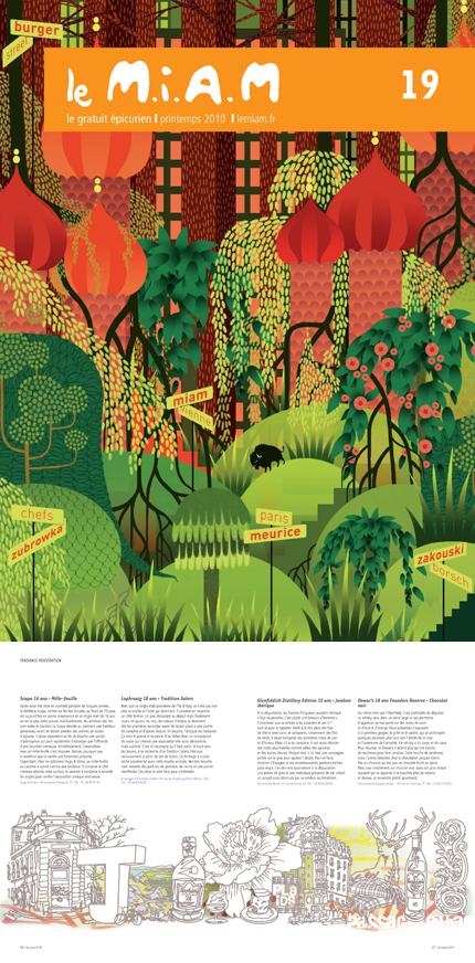 Couverture du n°19 du magazine M.I.A.M - par Charlotte Gastaut