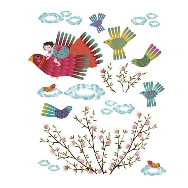 Planche de stickers pour la marque Djeco - par Charlotte Gastaut