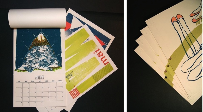 Calendrier 2013 de l'imprimerie Trace