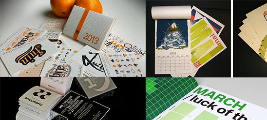 Des calendriers graphiques et originaux pour l'année 2013