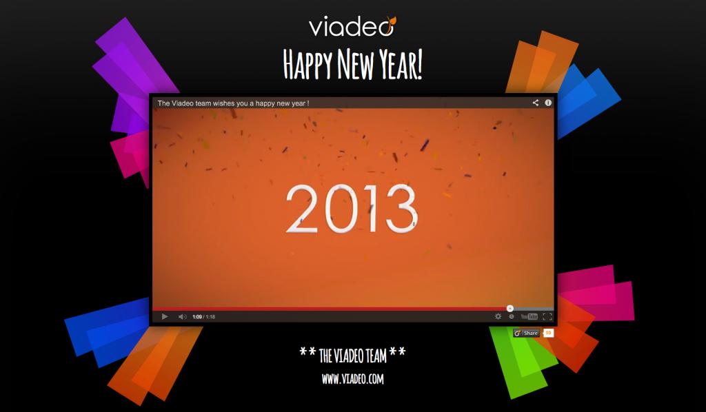 carte de voeux vidéo de VIADEO
