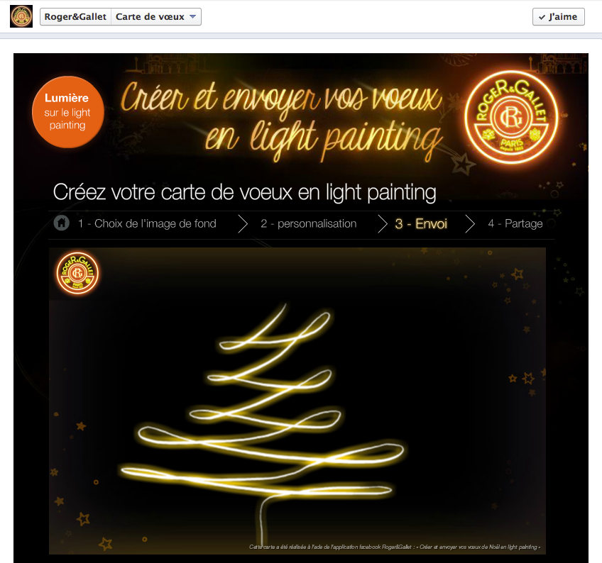 Carte de voeux en light painting par Roger@Gallet