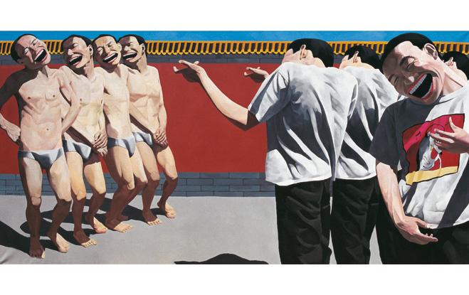 The Execution, 1995, huile sur toile, 150 x 300 cm Collection privée. © Yue Minjun