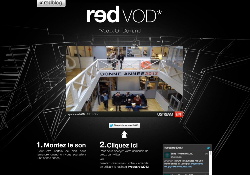 voeux en live de l'agence Red