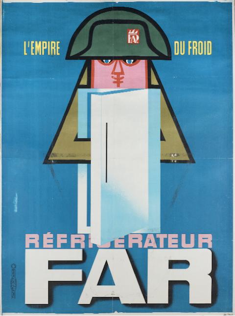 Affiche de Jacques Auriac pour les réfrigérateurs FAR - 1960