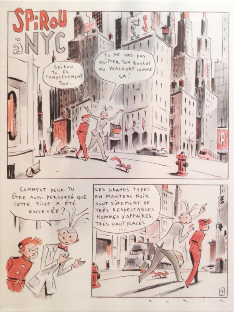Spirou réinterprété par François Avril
