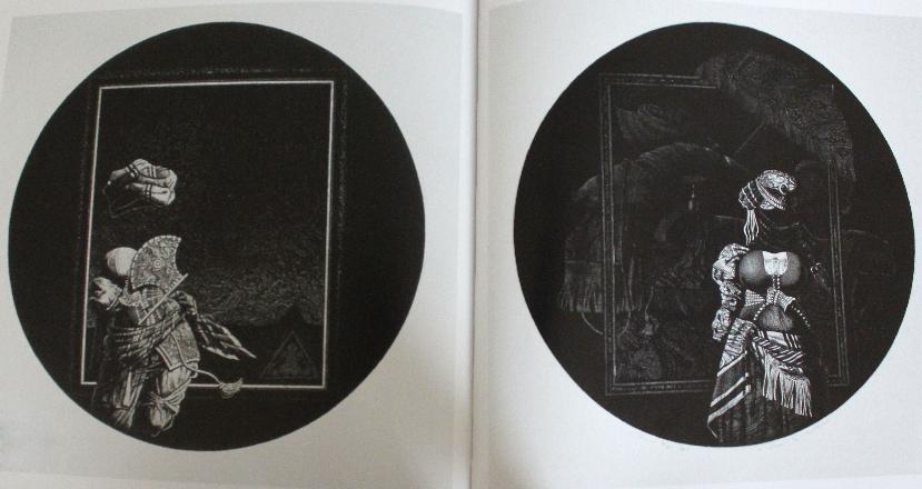 """gravures """"Odalisque 11"""" et """"Odalisque 21"""" par Awad Al Qhimi - 1984"""