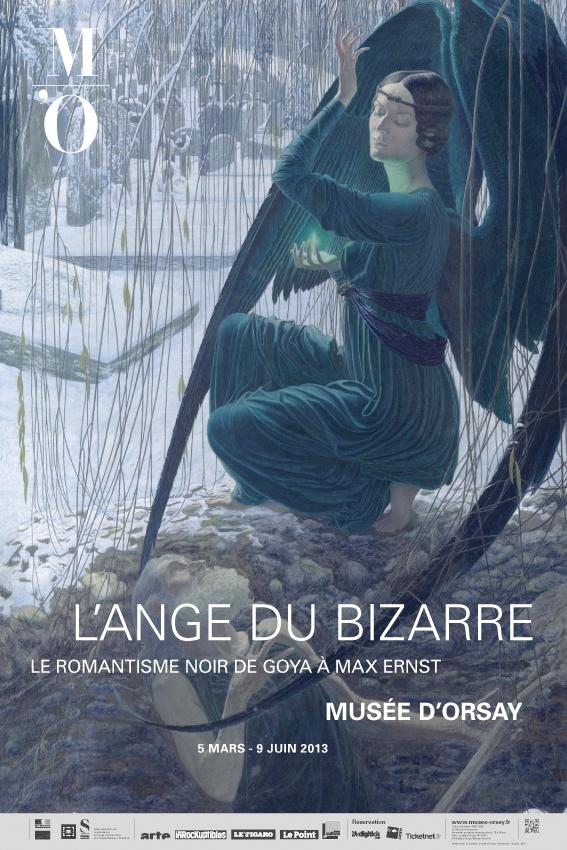 """Affiche de l'exposition """"l'Ange du bizarre"""""""
