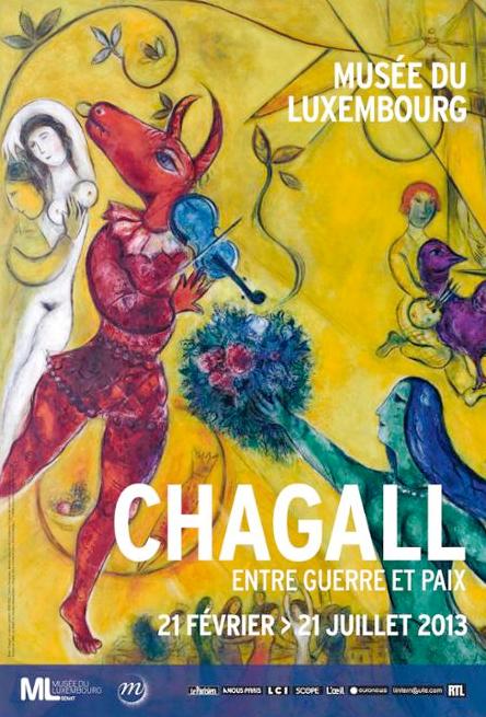Affiche de l'exposition Chagall