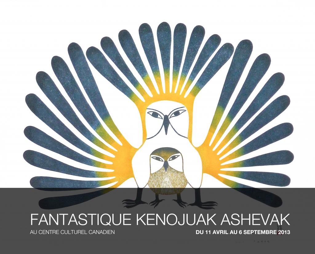 """Affiche de l'exposition """"Fantastique Kenojuak Ashevak"""""""