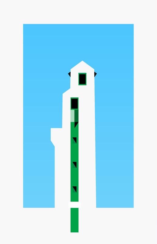 Le lot à gagner : cette sérigraphie du phare de Ciboure