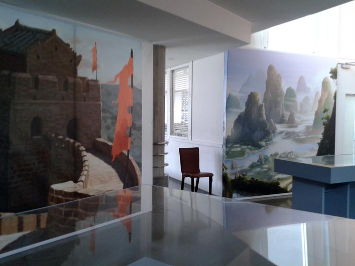 Salle de l'exposition des mystérieuses cités d'or - Musée Guimet