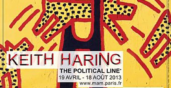 Keith Haring, The Political line, au Musée d'Art Moderne de la ville de Paris