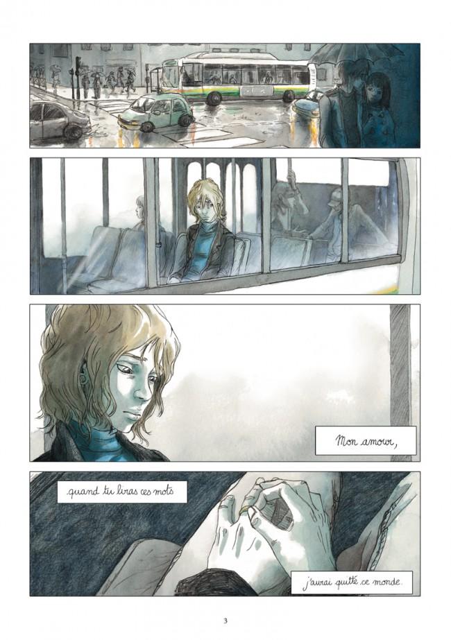 """planche de la BD """"Le bleu est une couleur chaude"""" de Julie Maroh aux éditions Glénat"""