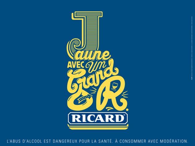 """Bouteille - campagne pub """"Jaune avec un grand R"""" - agence BETC pour Ricard"""