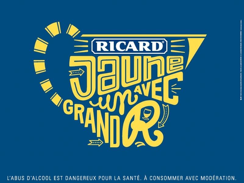 """Pichet - campagne pub """"Jaune avec un grand R"""" - agence BETC pour Ricard"""