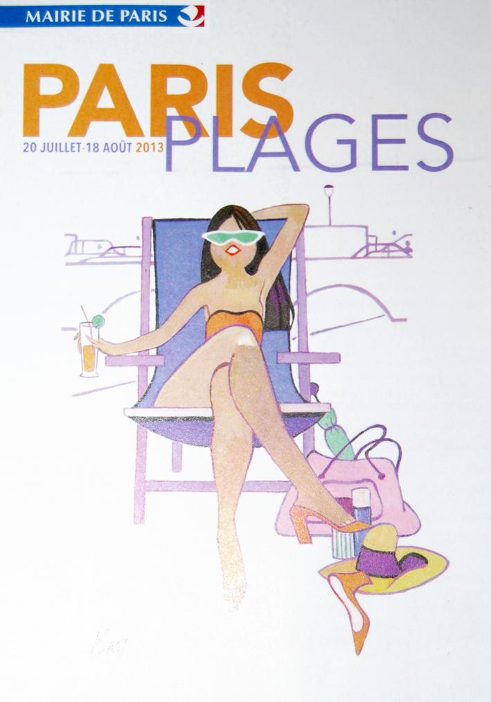 Affiche Paris Plages 2013 par Kiraz