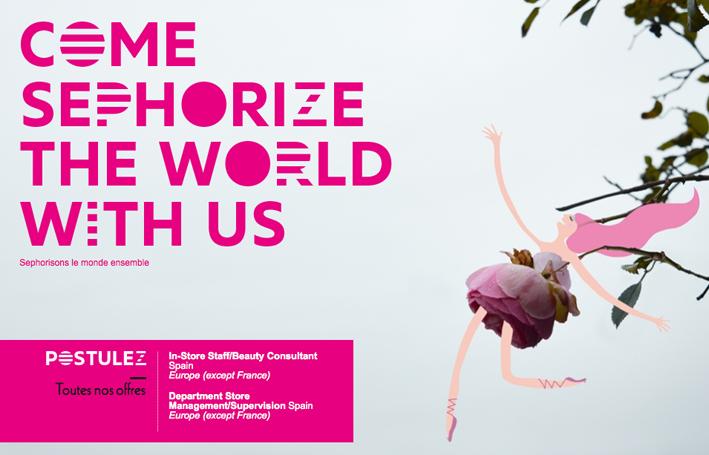 """Visuel de la campagne """"Sephorizons le monde ensemble"""" extrait du site We are Sephora"""