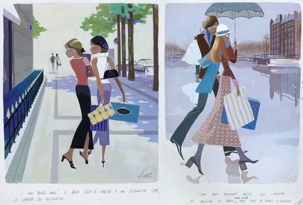 illustrations des Parisiennes par Kiraz